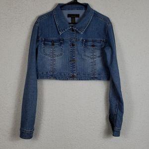 Urban behavior cropped jean jacket size large
